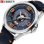 CURREN/卡瑞恩 男士手錶 皮帶男士手錶 日曆男錶 運動防水男錶