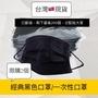 (限量!每人限購2片)黑色一次性無紡布口罩(裸裝) (三層)拋棄式口罩 經典黑 防塵口罩