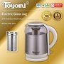 TOYOMI Glass Kettle Jug 1.8L [Model: WK 3362] - Official TOYOMI Warranty Set. 1 Year Warranty.