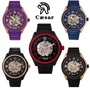 [Caesar]德國 凱撒 CA-1021時尚簡約鏤空機械鋼帶手錶