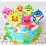 ❤甜甜棉花糖❤ 鯊魚寶寶 造型蛋糕 生日蛋糕 8吋10吋12吋 鶯歌  可自取