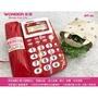 【旺德 WONDER】WT-03 紅色&白色 可免持撥號 具備保留鬧鐘功能傳統有線電話家用電話室內電話[B&H店小舖]