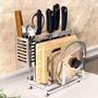 【收納】 304不銹鋼刀架廚房用品多功能刀座置物架菜刀砧板放刀具收納架子