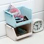 滿額 免運      日式極簡三 可疊加桌面收納盒塑料辦公雜物置物架化妝品首飾收納儲物盒