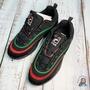 【我愛小孩更愛買】FILA RAY 黑底 紅綠線 中性 復古老爹鞋 厚底鞋 異國黑 韓國代購 正品