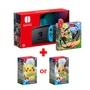 【健身環大冒險 + 任選遊戲*1】Switch 主機-藍/紅-電池加強版 HAD-S-KABAA-TWN熱銷商品~搶先預購