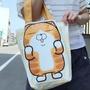 正版授權~ 白爛貓立體帆布手提袋