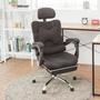 【完美主義】多功能厚座腳靠電腦椅/書桌椅/辦公椅-附靠墊(五色可選)