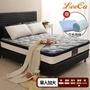 【LooCa】石墨烯遠紅外線+乳膠+護脊2.4mm獨立筒床墊(單大3.5尺)