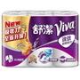 舒潔 VIVA速效廚房紙巾-大小隨意撕(捲筒式雙層)108張x6捲x6串