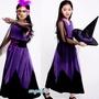 mama小舖/(台灣出貨)瘋狂萬聖節角色扮演精靈巫婆裝+巫婆帽表演禮服 /Cosplay服兒童表演道具服