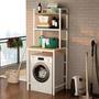 洗衣機置物架滾筒洗衣機上方架子衛生間洗手間落地置物架陽台收納 歐韓時代