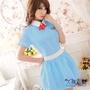 久慕雅黛 粉嫩天使小護士制服角色扮演服。粉藍色