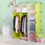 【團購世界】免運費 12格12門組合式加深衣櫃收納櫃 簡易衣櫃 組合衣櫃 簡易收納櫃 組盒收納櫃 塑料簡易組合