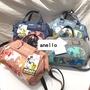 日本樂天 anello 米奇款 刺繡 斜跨手提兩用包 防水帆布单肩包 學生書包