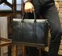 FINDSENSE Z1 韓國 時尚 潮 男 皮質 黑色 橫款 商務公事包 單肩包 手提包 單肩包 側背包 斜背包