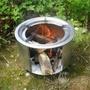 戶外燒柴爐柴火爐野外便攜地鍋新式鐵爐子小型野炊一體式野營室。89711