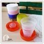 B2565 糖果伸縮折疊杯/PP環保伸縮收納杯/迷你伸縮折疊杯/露營野餐/攜帶型水杯