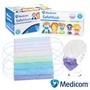 加拿大【Medicom】 馬卡龍繽紛多色不織布醫療口罩50片/盒