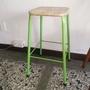 金屬藤面 高腳椅 綠色金屬椅腳