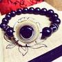 [眞晶眞飾]西藏鈣化八大財咒法輪天眼珠天珠手鍊