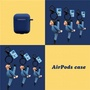 現貨 Airpods 1 / 2 日本原創搞笑 劈腿情侶 保護套 蘋果 藍芽耳機 專用 掛飾