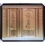 黃金松神彩雕刻木雕佛聯祖先聯佛道禪心祖德流芳3尺6或4尺2【歡喜地佛教文物】