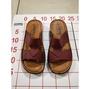 【二手衣櫃】SHENG 女涼鞋 涼鞋 台灣製造 百搭素面寬版勃肯平底拖鞋 休閒鞋 平底拖鞋 少女鞋 拖鞋 1070815