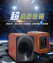 SONY號角高音喇叭可調高音木質音箱 發燒級帶高音分頻超高音音箱 紅木紋超高音喇叭