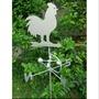 銀色鐵板公雞風向儀 獨家販售 公雞主體會隨風轉 台灣製