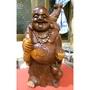 紅豆杉彌勒佛 木雕 早期收藏品 雕工精細 錢袋豐滿 搬家賠售 辦公室居家皆宜
