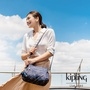 Kipling 燦爛潑墨星光梯形手提側背包-ORELIE