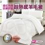 【三浦太郎】遠紅外線抗蹣抑菌超熱感羊毛被/6*7呎 2.1KG(四季被/發熱被/棉被)