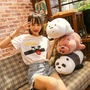 FEB New Japan We Three Bare Bears Plush Toys Panda 35cm 50cm 70cm 90cm Boy Birthday Day 1pcs Christmas Present 3D Pillow - intl