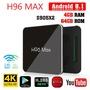 H96 Max S905X2安卓9  4G/64G 雙頻WIFI 數位媒體播放盒