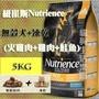 【犬用】紐崔斯Nutrience無穀犬+凍乾(火雞肉+雞肉+鮭魚)5kg