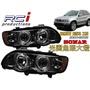 SONAR 台灣秀山 BMW X5 E53 98-02 前期 燻黑/晶鑽 光圈魚眼大燈