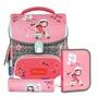 【磁扣設計】Tiger Family  歐洲插畫家 小學者 超輕量護脊書包+文具袋+鉛筆盒 -- BUBU少女 NO.H2489