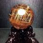 30幸運星 純天然 金髮鈦 水晶球 鈦晶球 七彩光  高價品 天然水晶 天然水晶