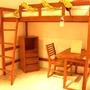 詩肯柚木 上下舖 高腳床 單人床 書桌 床架 實木 運費另計