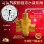 【全場熱銷】 黃銅減壓閥 家用自來水減壓閥 熱凈水器穩壓閥DN15 4分 DN20 6分 HTY01