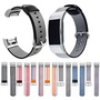 適用於Fitbit charge2尼龍錶帶 fitbit帆布錶帶 charge2牛仔工藝手環錶帶 男女通用腕帶