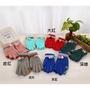 仿羊絨保暖親子手套 女士韓版提花帶毛球觸屏手套 觸控手套