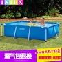 INTEX長方形管架水池兒童 游泳池 大家庭用加大加厚