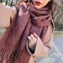 SKY CASHMERE 質感100%純羊毛圍巾-粉色