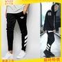 adidas Originals Skinny Joggers AJ7673 條紋Logo春款休閒棉褲