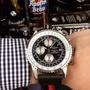 百年靈 Breitling️男士手錶 日本多功能石英🃏42*13mm ️拱橋藍寶石鏡面 進口小牛皮帶配原裝針扣