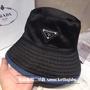 Prada 普拉達雙面系列牛仔漁夫帽 男女情侶款遮陽帽