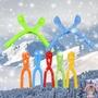 ✡現貨✡36CM雪球夾 冬季戶外玩具雪球夾 打雪仗必備神器 全新防凍材質 (顏色隨機)