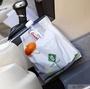 【黏貼式車用垃圾袋】 (15入裝) 旅行出遊 車用收納置物袋 汽車用品 收納袋 彈力束口 垃圾袋【狂麥市集】